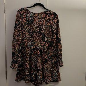 Zara long sleeve floral short romper